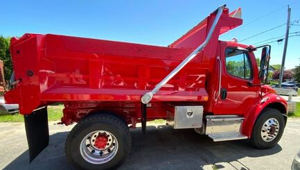 New red dump and work truck for Coelho and Sons Stonewall
